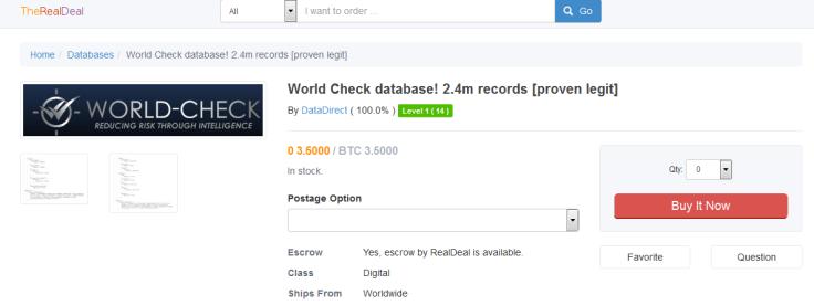 World-Check database