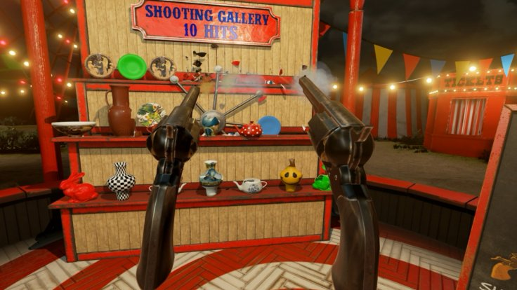 VR Funhouse shooting gallery