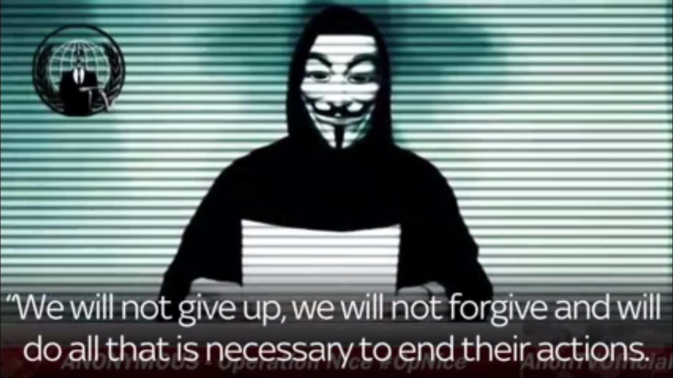 anonymous nice attack video 2016