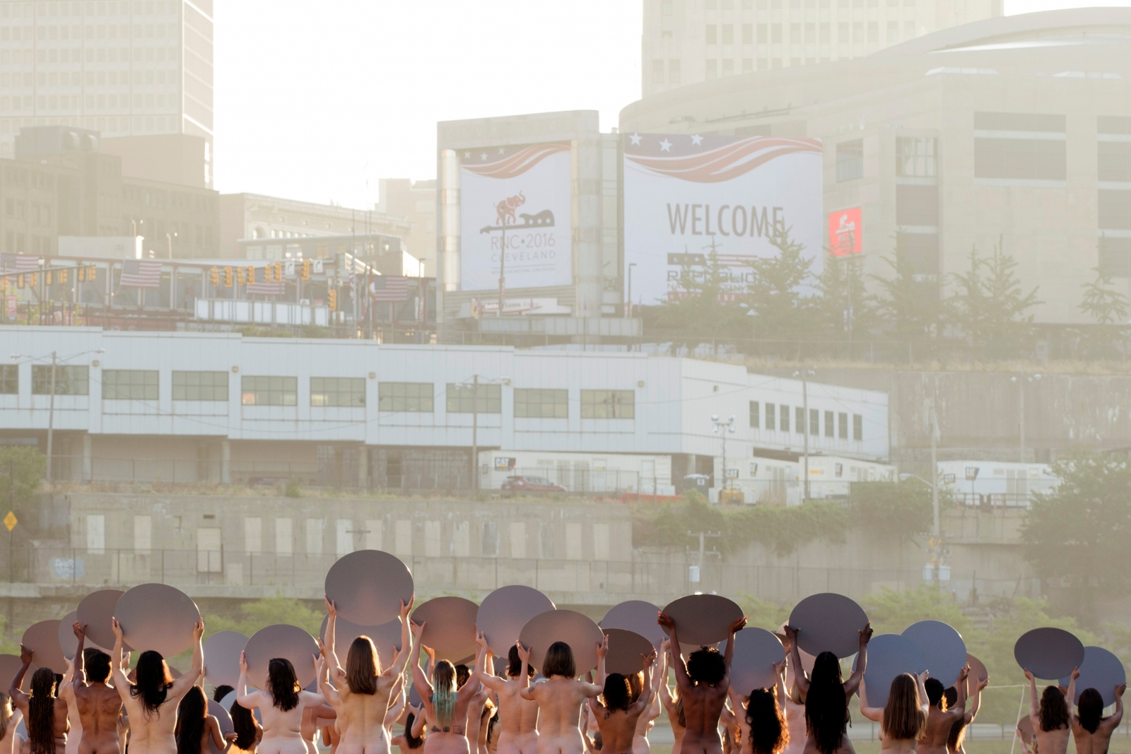 Cleveland nude protest