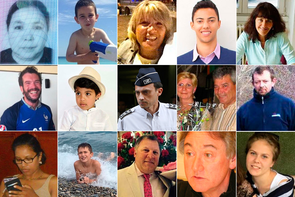 Victims of Nice attack
