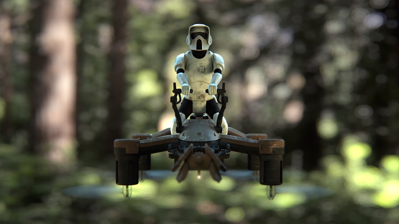 Propel's 74-Z Speeder Bike Star Wars drone