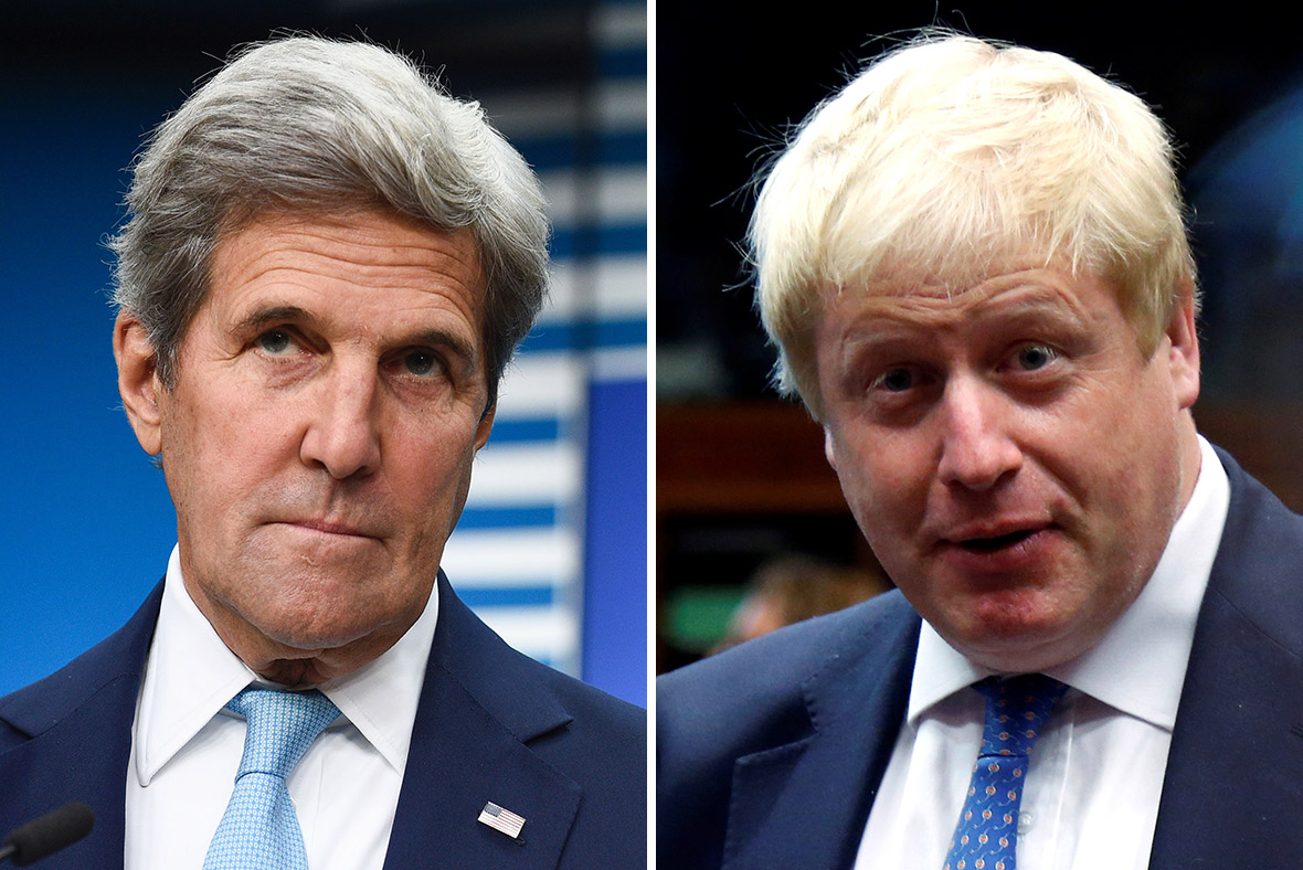 Boris Johnson John Kerry