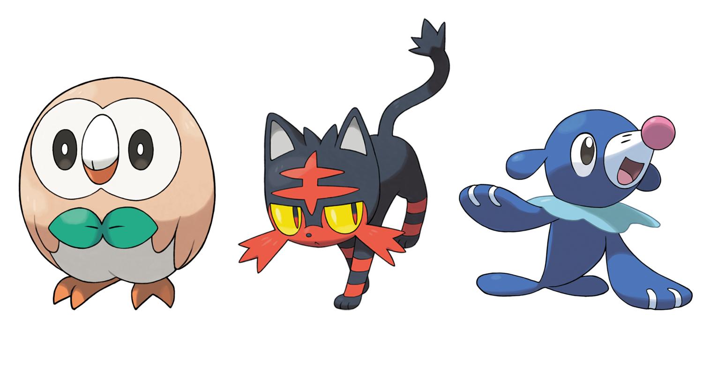Pokemon Sun Moon Starters