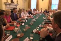 Theresa May's first cabinet as PM