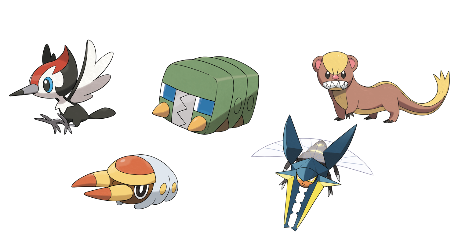 pokemon sun and moon every new pokemon announced so far for 3ds game