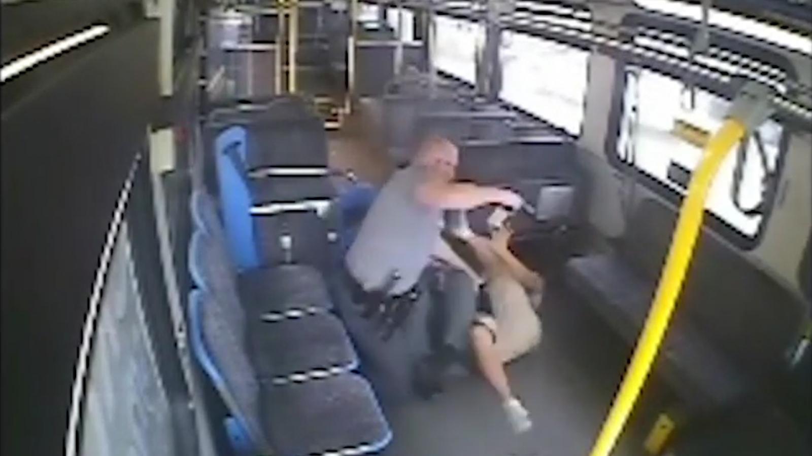 CCTV footage of man shot on bus