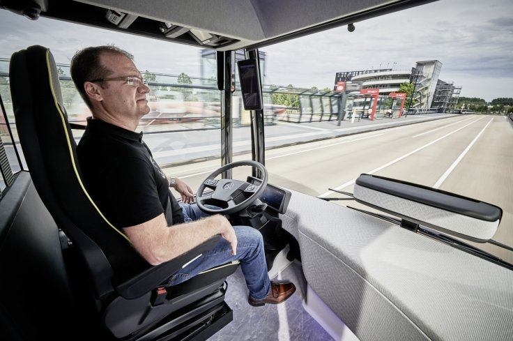 Self-driving bus cabin
