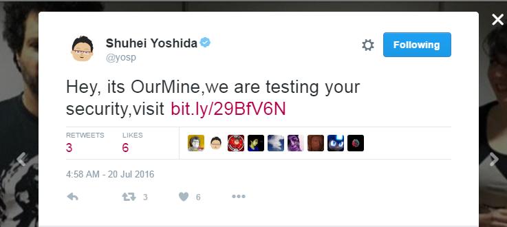 Shuhei Yoshida Twitter hacked