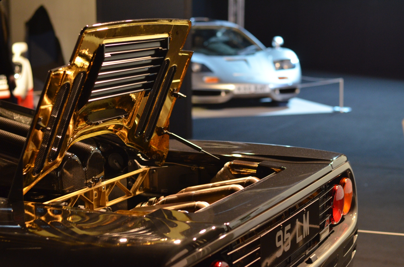 McLaren F1 gold engine bay