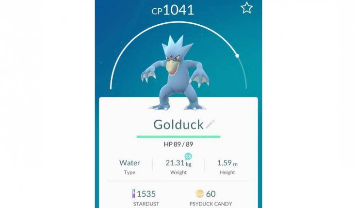 Golduck on Pokemon Go