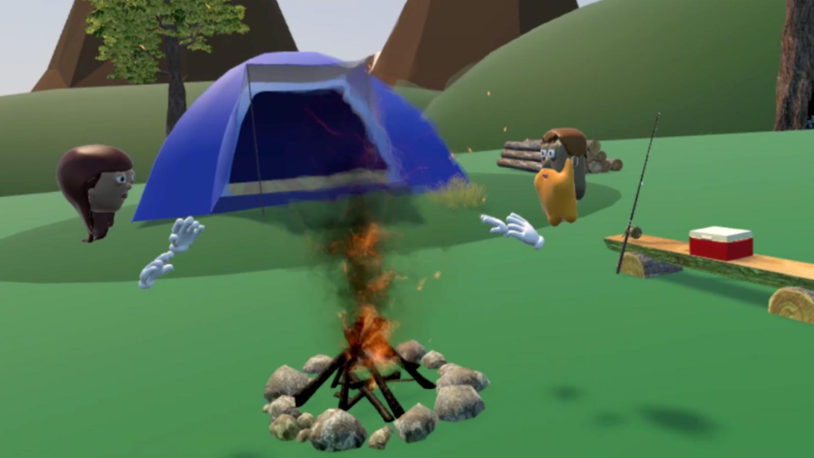 MetaWorld virtual reality camping