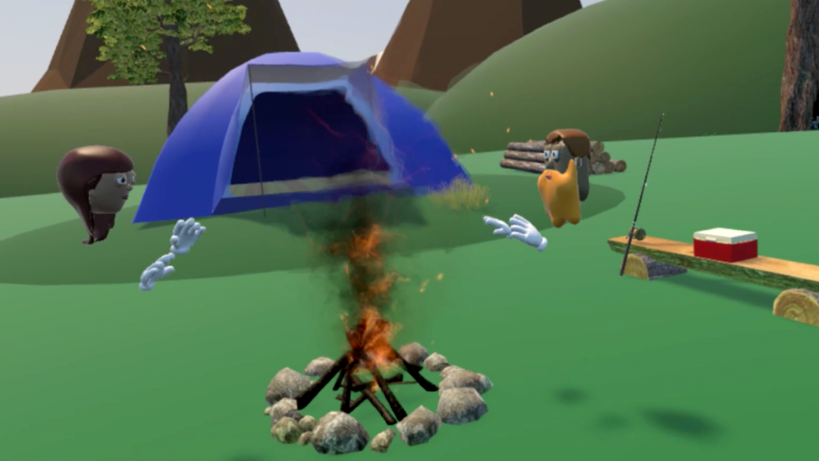 MetaWorld virtual reality camping