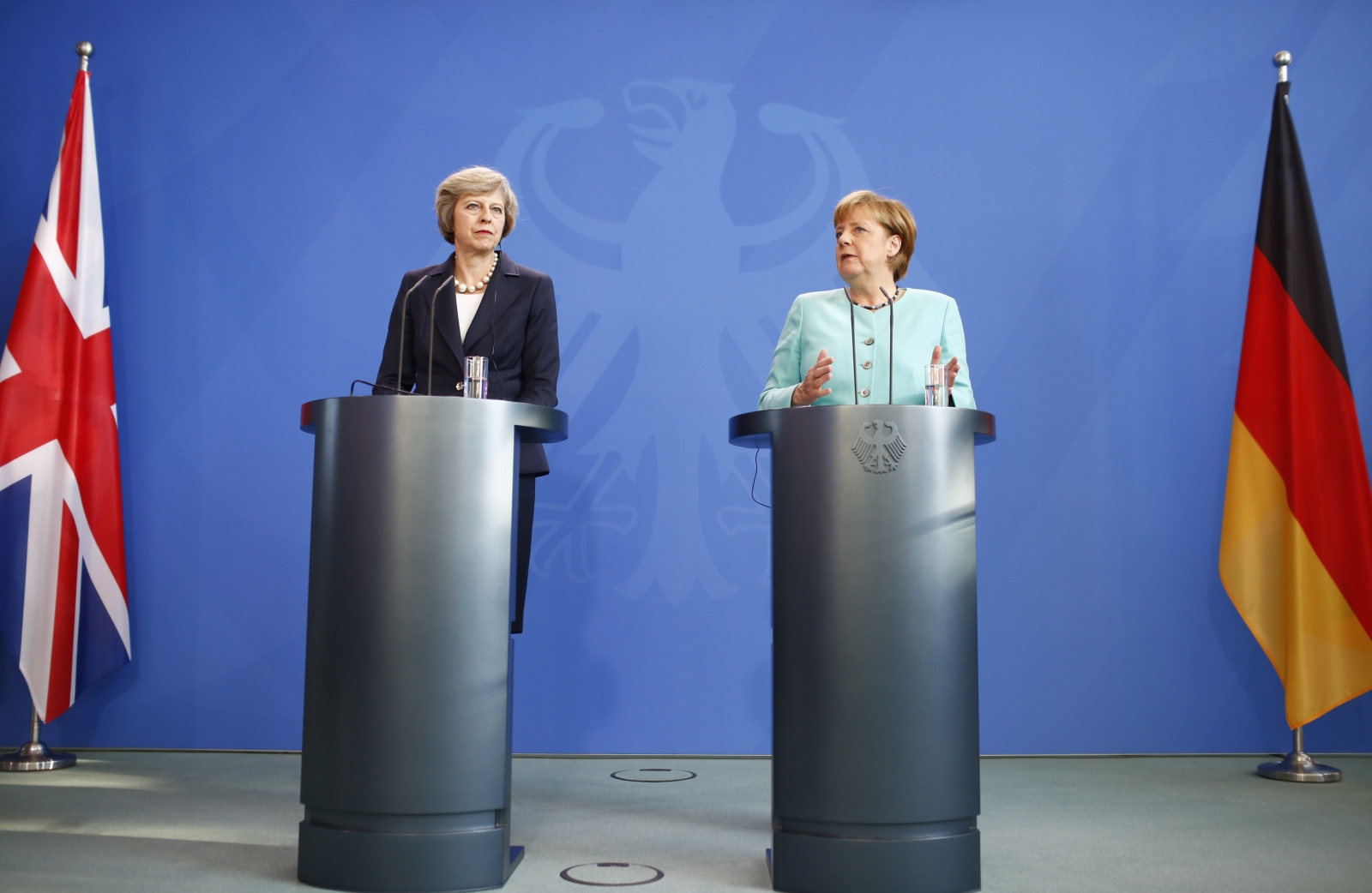 May and Merkel press conference