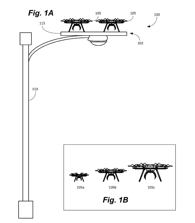 Amazon Prime Air drone charging patent