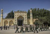 Xinjiang soldiers