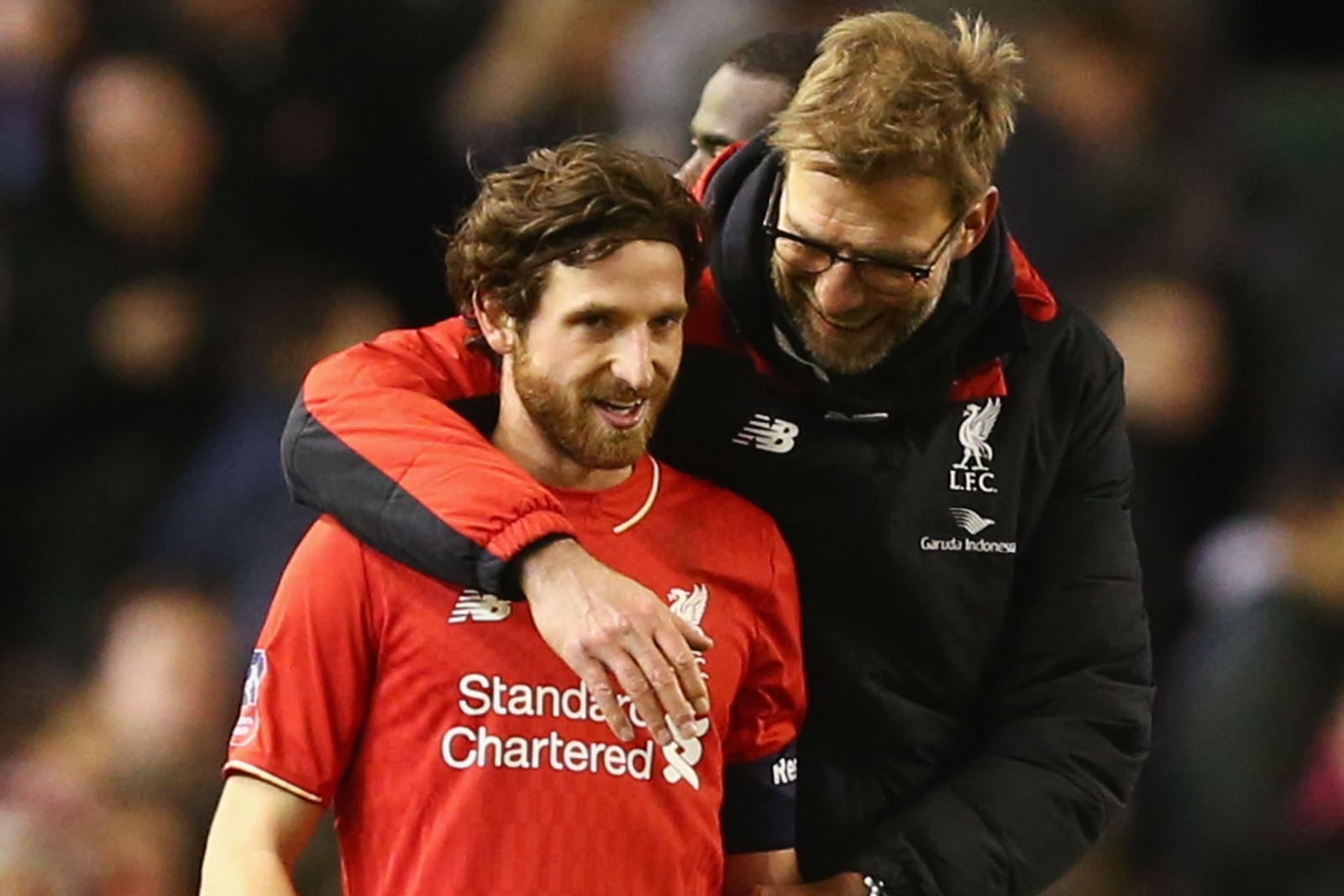 Jurgen Klopp and Joe Allen