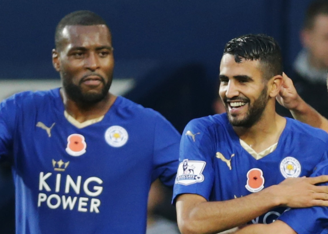 Wes Morgan and Riyad Mahrez