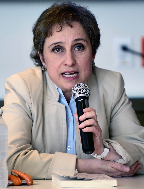 Mexican journalist Carmen Aristegui