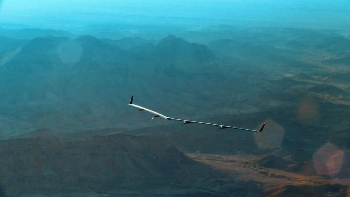 Facebook solar-powered drone Aquila