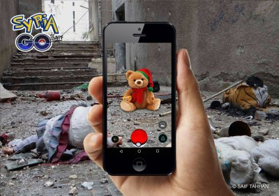 A teddy bear in Syria Go