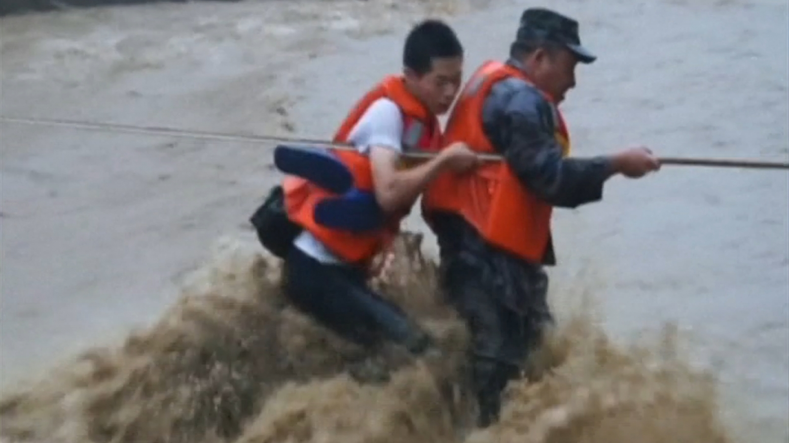 Rescue teams evacuate Enshi village