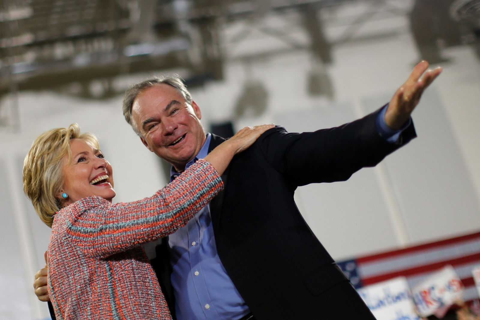 Tim Kaine and Hillary Clinton