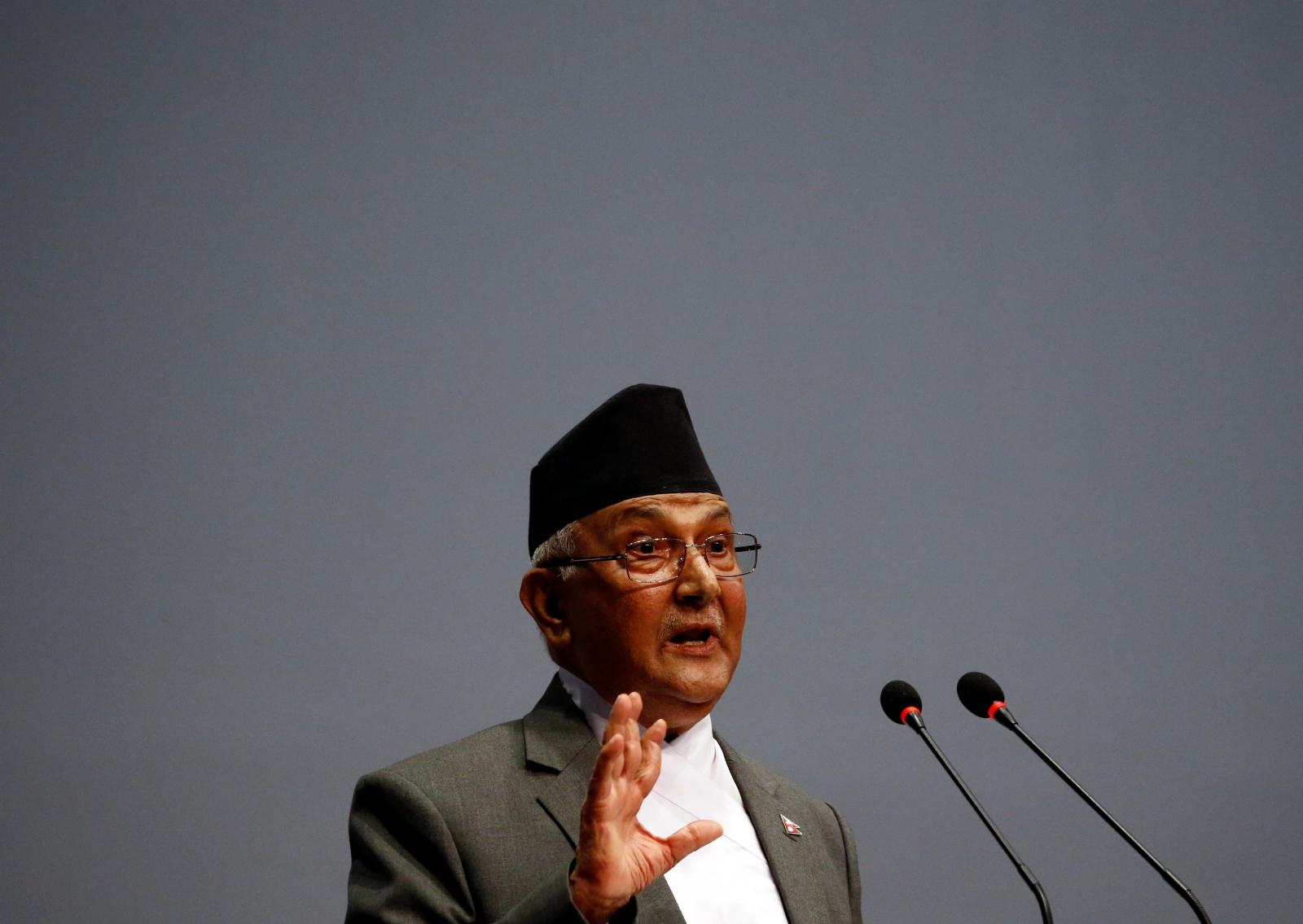 Nepal's Prime Minister Khadga Prasad Sharma Oli