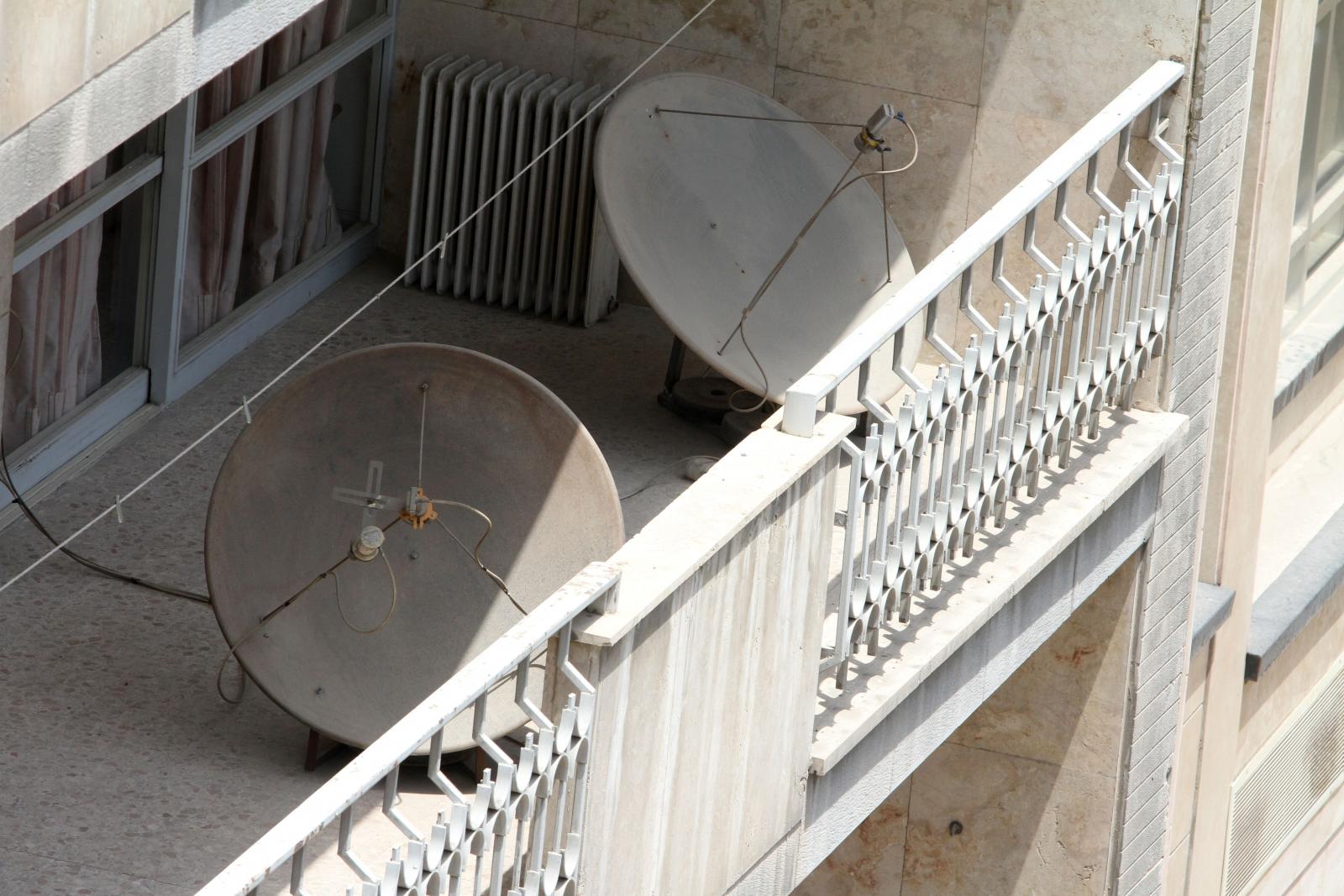 Iran satellite dishes