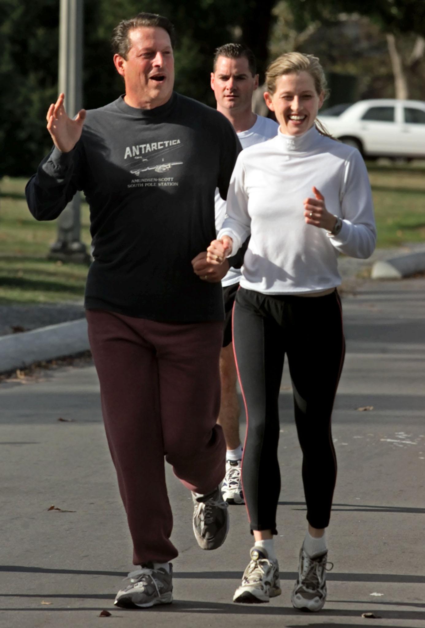 Karenna Gore with father Al Gore