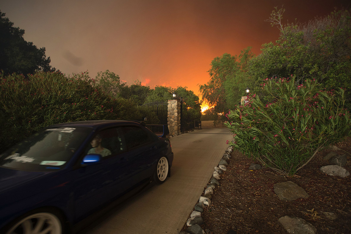 California Sand Fire