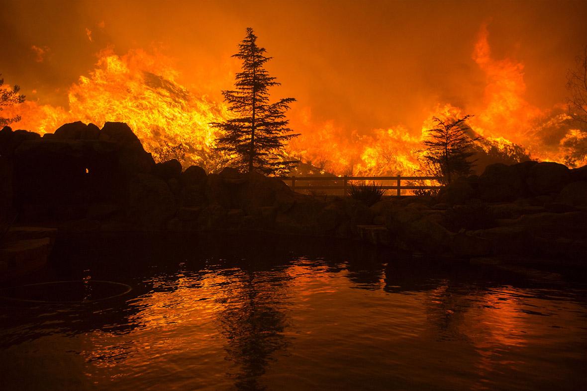California Sand Fire