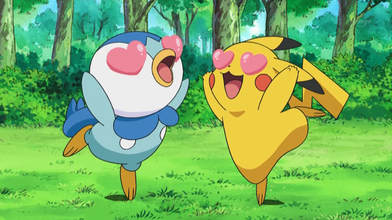 Pokemon the anime love Pikachu Piplup