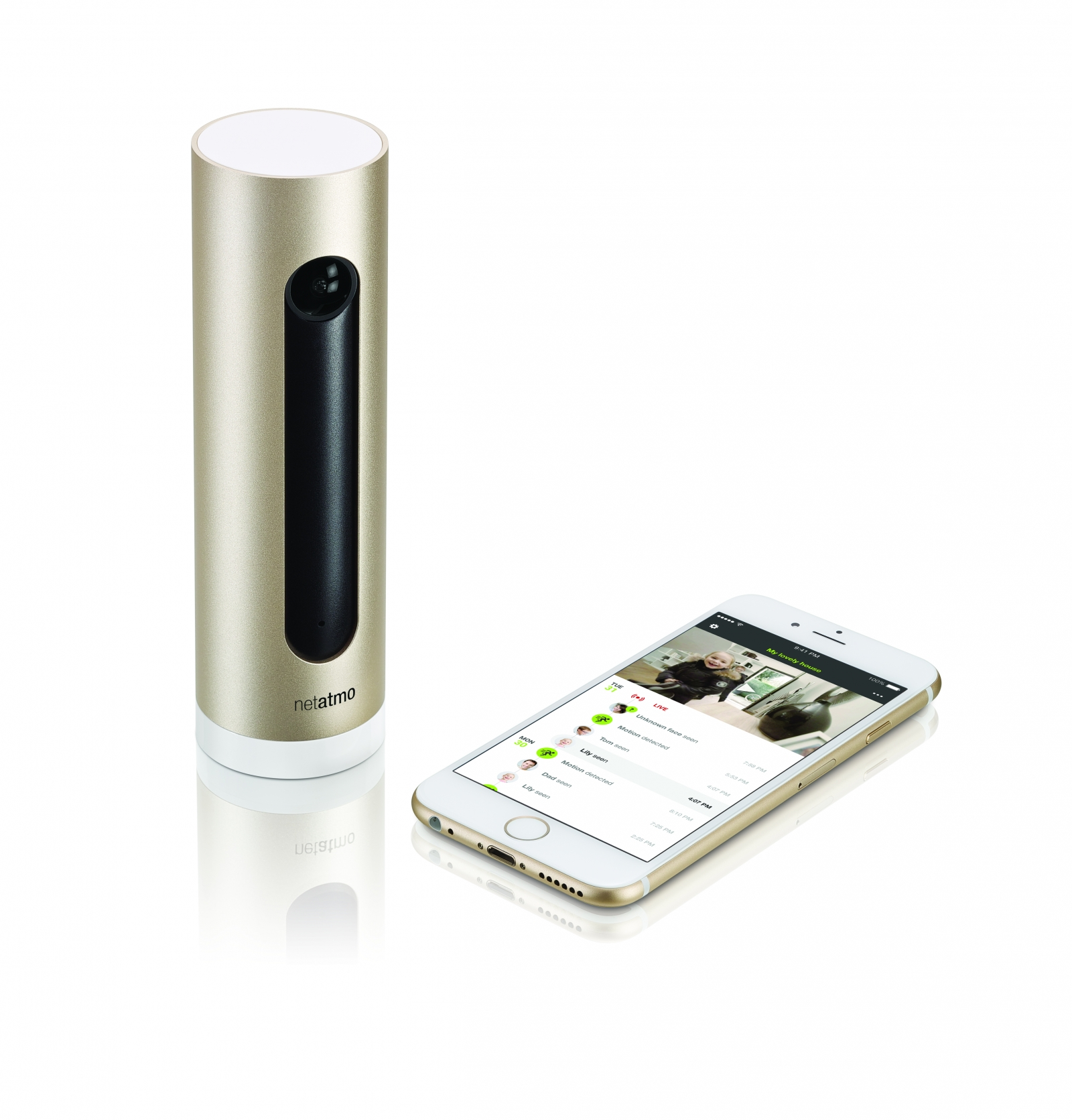Smart home security camera prevents fire