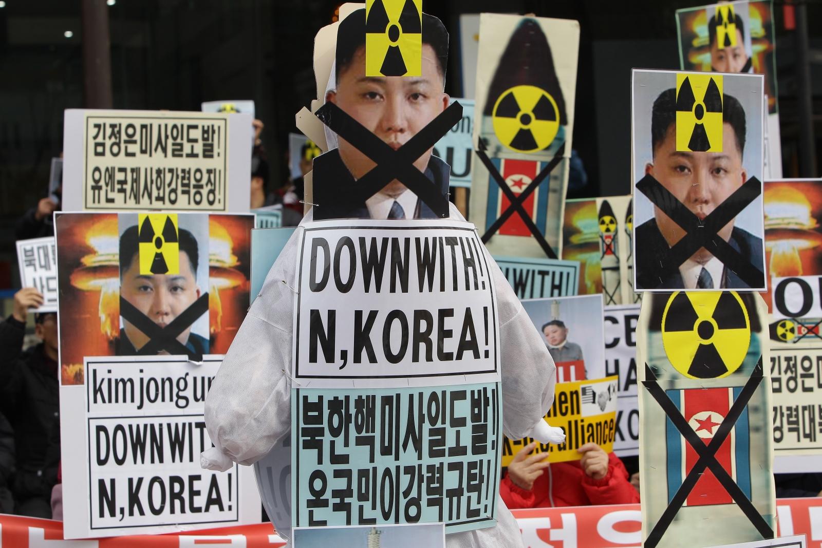 South Korea protest against North Korea