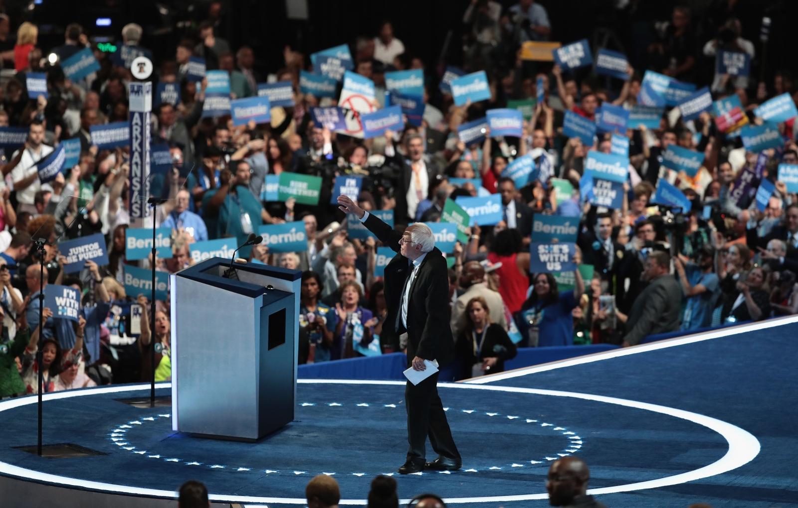 Bernie Sanders at the DNC