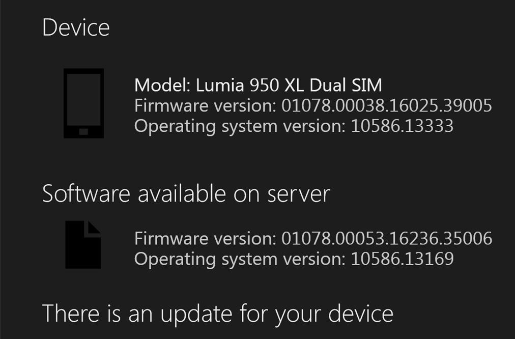 Lumia 950, 950 XL get new update