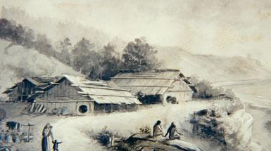 Tolowa Native american village
