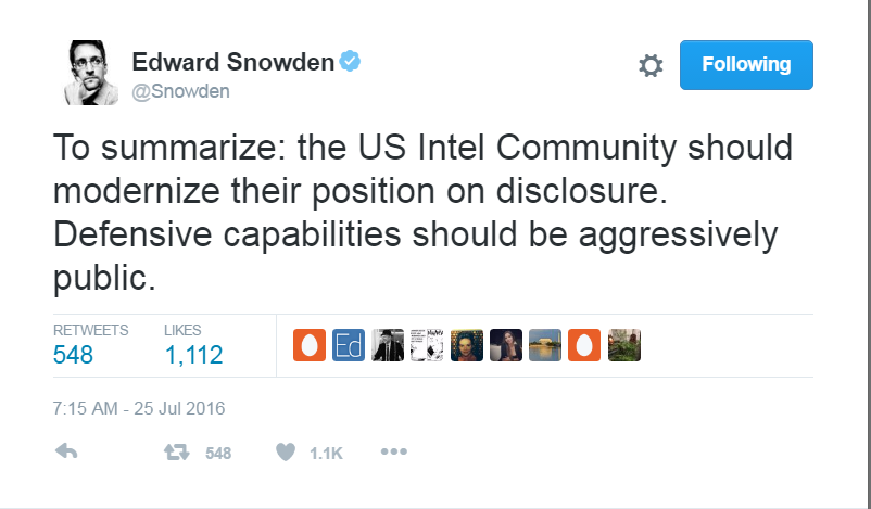 Whistleblower Edward Snowden says NSA would know if Russia is involved in DNC hack