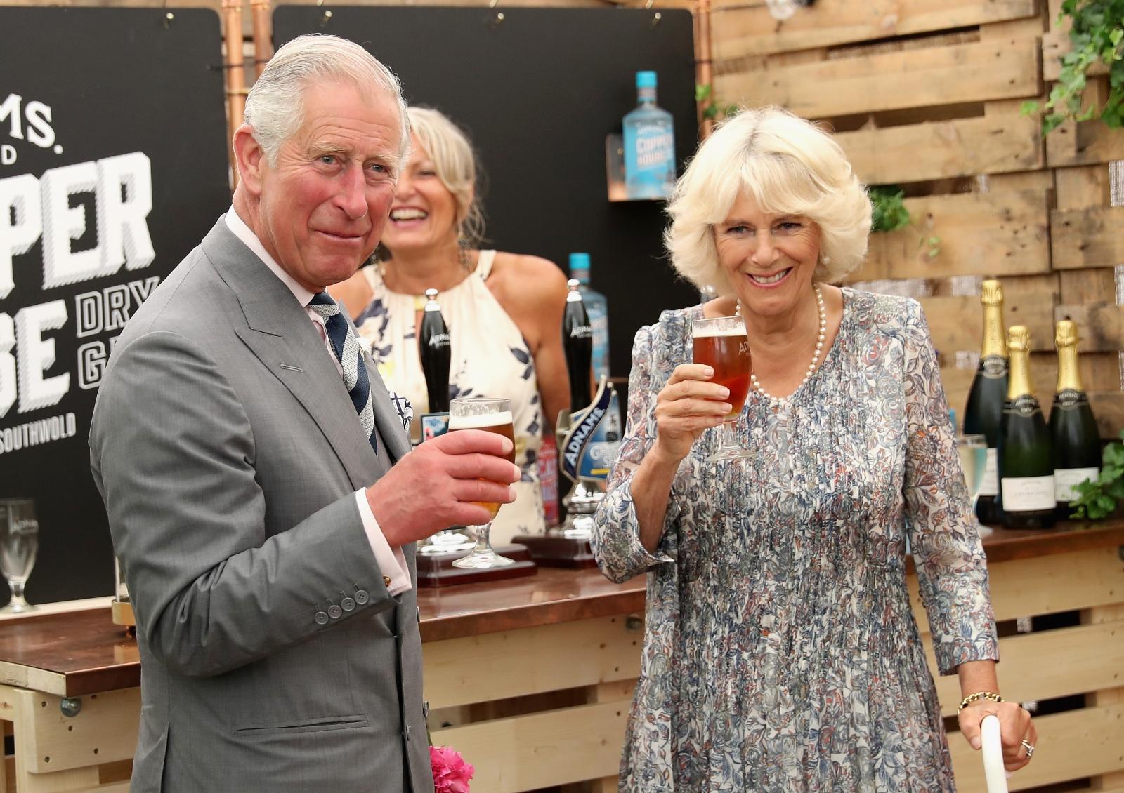 Prince Charles and Camilla visit Sandringham
