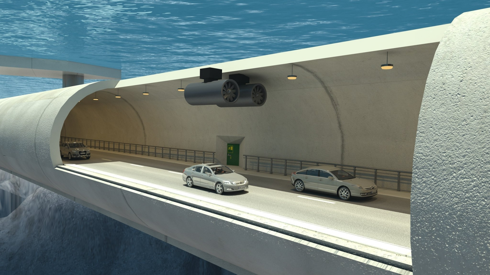 Sognefjord floating underwater tunnel