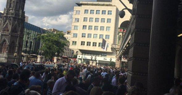 Charing Cross station evacuation