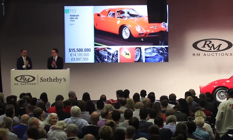 Ferrari 250 LM auction
