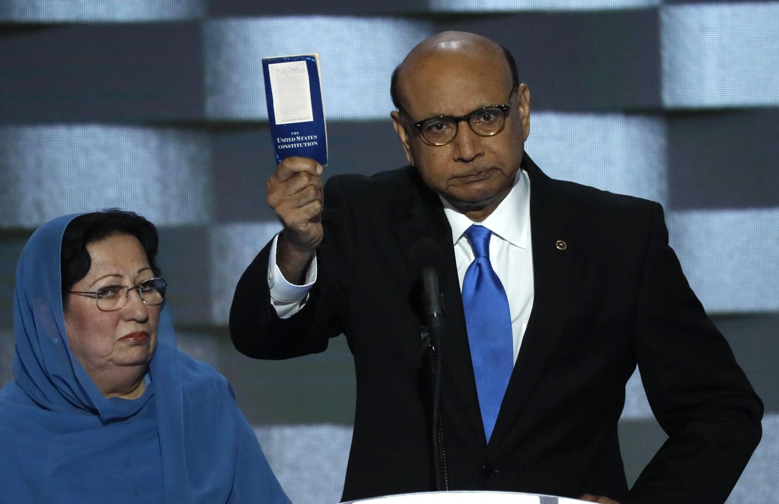 Khizr Khan at the DNC