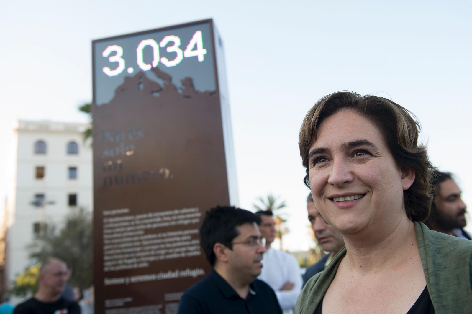 barcelona refugee counter