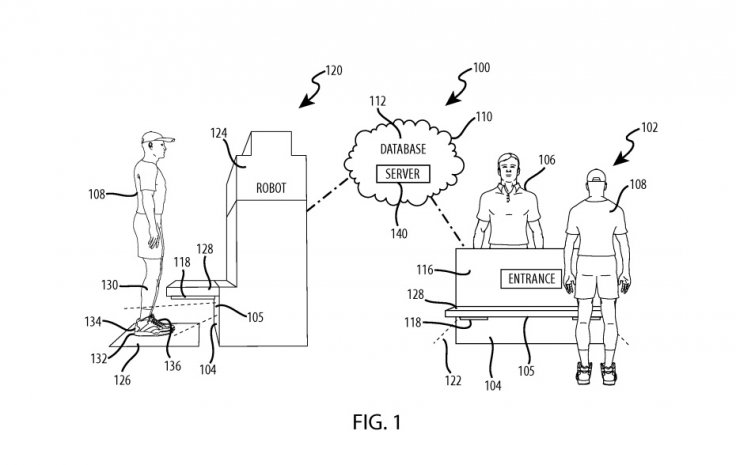 Disney's patent for a foot recognition system