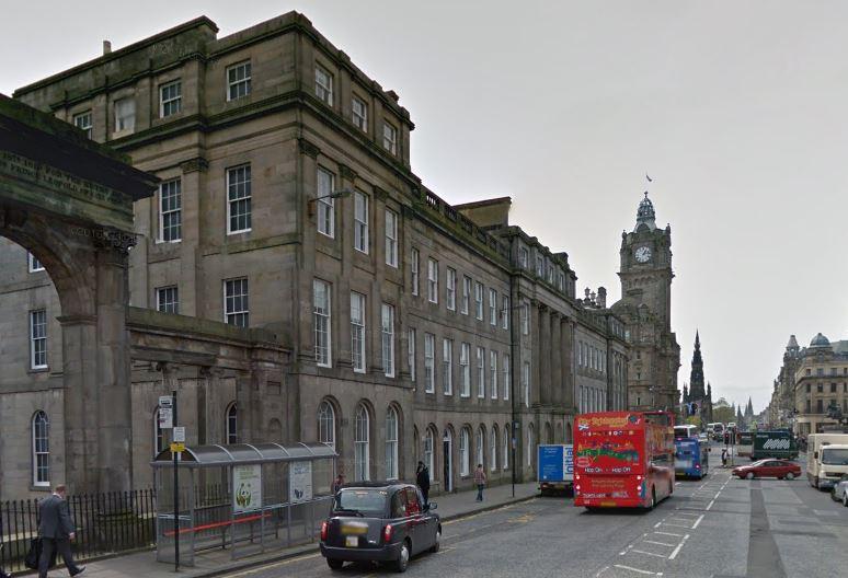 Waterloo Place in Edinburgh