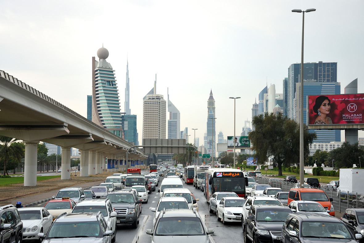 Dubai rush hour