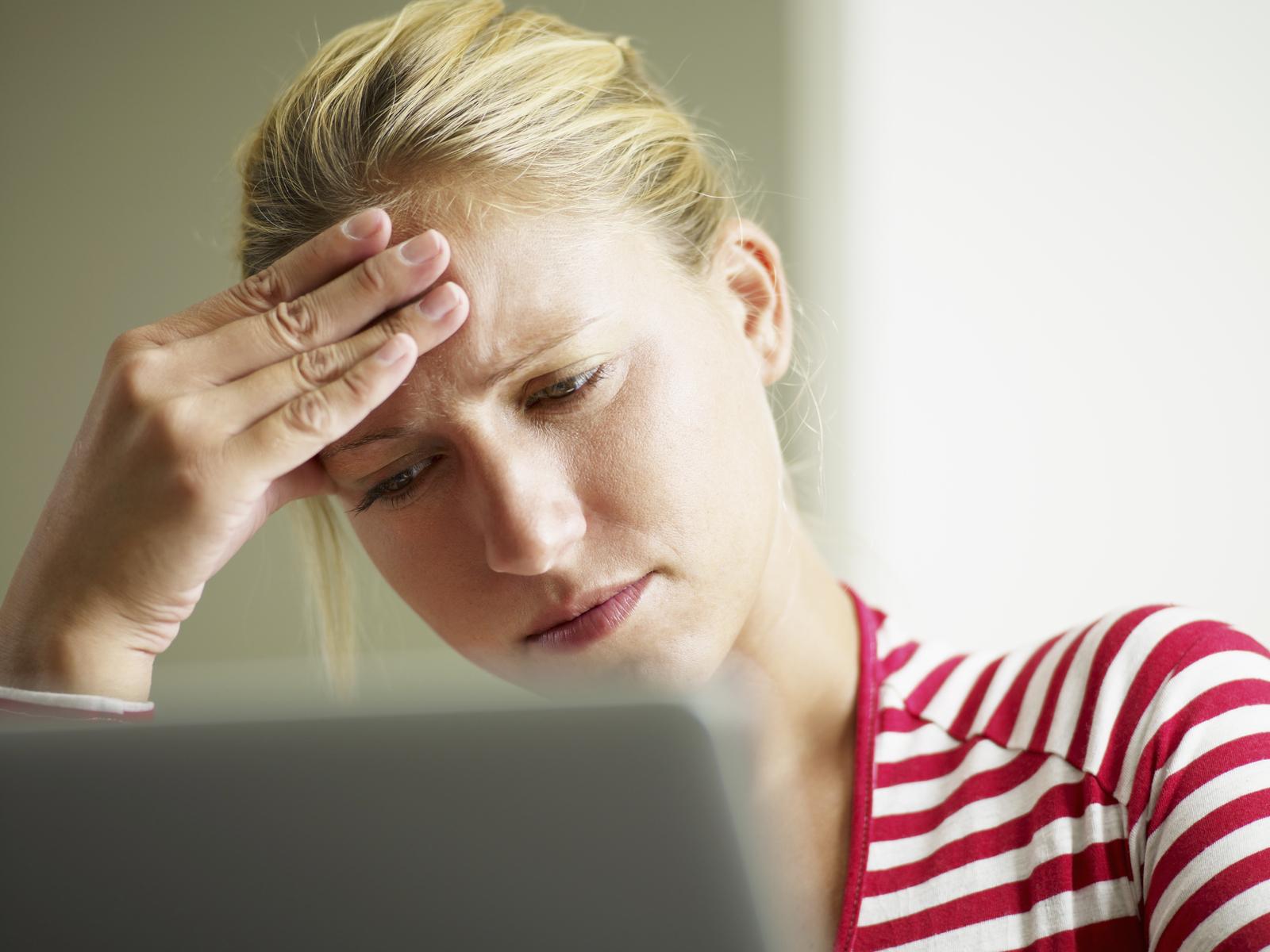 female face palm computer image