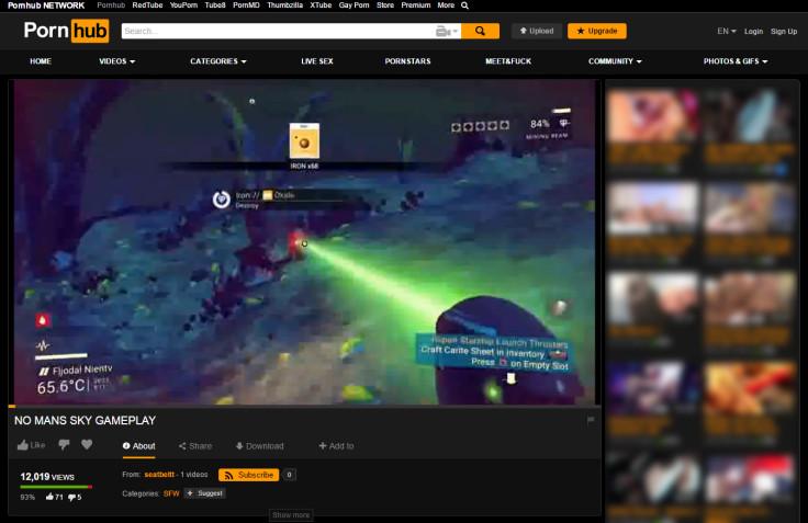 No Man's Sky game footage on Pornhub